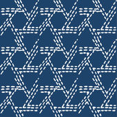 Hand drawn seamless indigo folk pattern — Stockvector