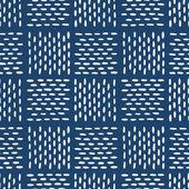 Hand drawn seamless indigo folk pattern — ストックベクタ