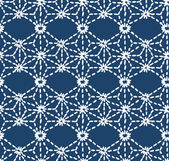 Hand drawn seamless indigo folk pattern — Stock Vector