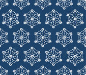 Hand drawn seamless indigo folk pattern — Stock Vector