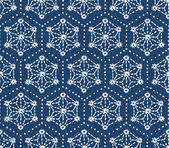 Hand drawn seamless indigo folk pattern — Vettoriale Stock