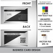 Corporate Business Card Geometry Template - Vettoriali Stock