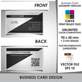 Corporate Business Card Geometry Template — Stock Vector