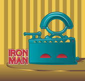 Retro smoothing iron poster design — Wektor stockowy