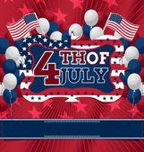 4th of July Design. Vector Illustration. — Stock Vector