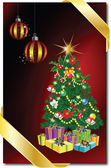 Merry christmas and happy new year — Stock Vector