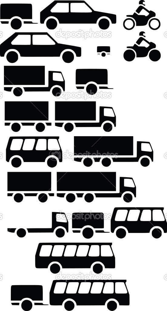 Vehicles for transportation — Stock Vector #13189712