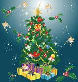 Wesołych świąt i szczęśliwego nowego roku — Wektor stockowy