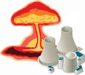 Energía nuclear — Vector de stock
