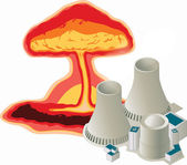 Energia nucleare — Vettoriale Stock