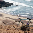 Bicycle on the Atlantic Ocean coast — Stock Photo