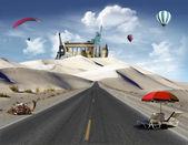World landmarks in the desert — Stock Photo