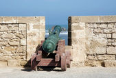Morocco Essaouira harbour fortification — Stock Photo