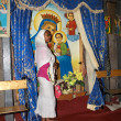 Stock Photo: Pilgrim at Adadi Maryam church