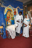 Pilgrims at the Adadi Maryam church Ethiopia — Stock Photo