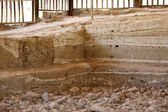 Stratigraphy of historic site — Stock Photo