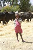 Ethiopian young girl portrait — Stock Photo