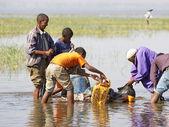 Pescadores africanos — Foto Stock