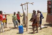 Afrikaanse vissers en vis — Stockfoto