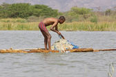African fisherman — Stock Photo