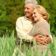 Older are enjoying the  air — Foto Stock