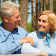Stock Photo: Happy older are enjoying fresh air