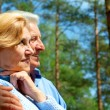 Funny older are enjoying the fresh air — Stock Photo