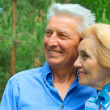 Smiling older are enjoying the air — Stock Photo