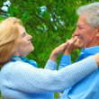 Stock Photo: Lovely older are enjoying fresh air