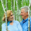 Stock Photo: Cute older are enjoying fresh air