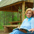 Magnificent older are enjoying the fresh air — Stock Photo