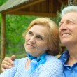 Magnificent older are enjoying the air — Foto Stock