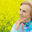 Stock Photo: Lovely old womis enjoying fresh air