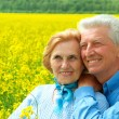 Stock Photo: Beauteous older are enjoying fresh air