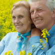Beauteous older are enjoying the air — Stock Photo