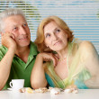 Cool old  couple at the resort — Foto Stock