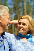 Happy older are enjoying the air — Stock Photo