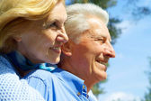 Funny older are enjoying the air — Stock Photo