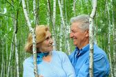 Cute older are enjoying the fresh air — Stock Photo