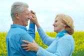Glorious older are enjoying the fresh air — Stock Photo