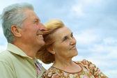 Superb older are enjoying the fresh air — Stock Photo