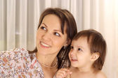 Attractive girl with mom — Stock Photo