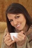 Pięknej bliss kaukaski kobieta — Zdjęcie stockowe
