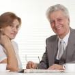 Business man with his secretary — Stock Photo #12834761