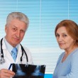 Stock Photo: Patient and her tops doctor