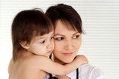 Good physician with small patient — Stock Photo