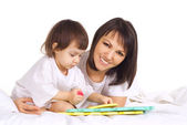 A Caucasian baby with his mother — Stock Photo
