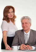 An elderly man with a lady — Stock Photo