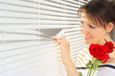 Charming woman is resting — Stock Photo