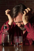 Pissed-off gentleman at home — Stock Photo